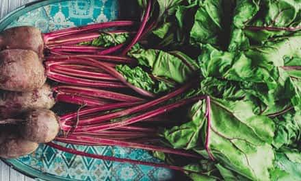 Rote Bete gefüllt mit Süßkartoffeln und Brokkoli