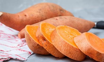 Gefüllte Süßkartoffel